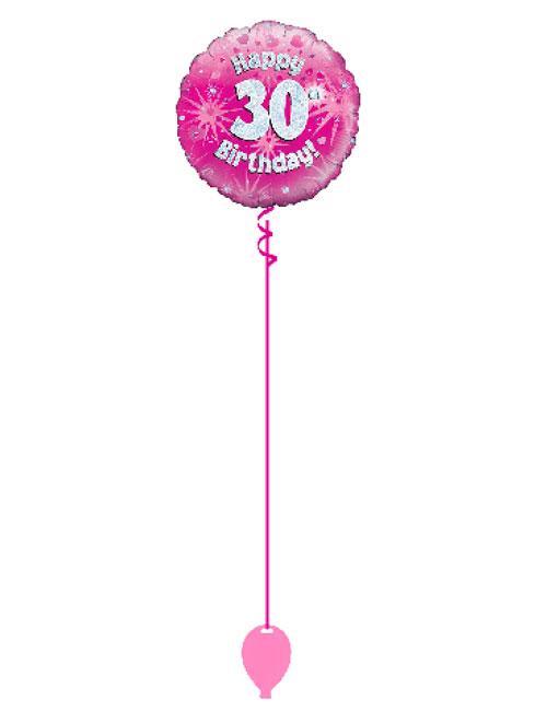 Pink 30th Foil Balloon