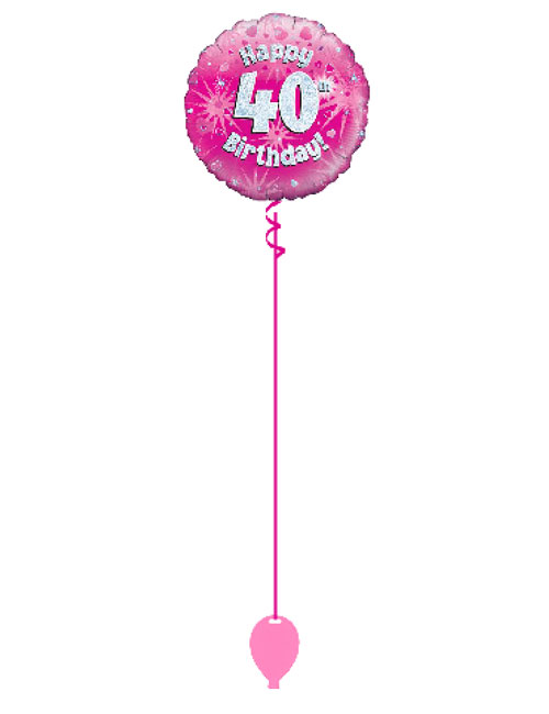 Pink 40th Foil Balloon