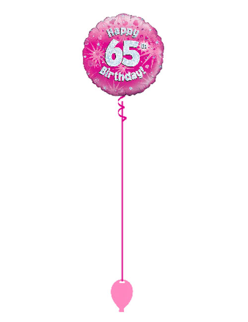 Pink 65th Foil Balloon
