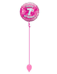 Pink 7th Foil Balloon