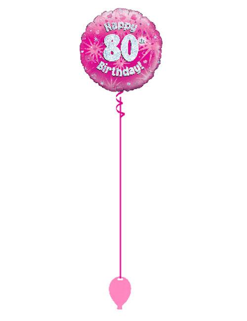 Pink 80th Foil Balloon