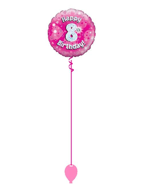 Pink 8th Foil Balloon