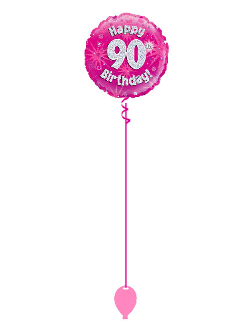 Pink 90th Foil Balloon