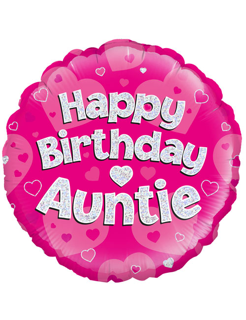 "18"" Pink Birthday Auntie"