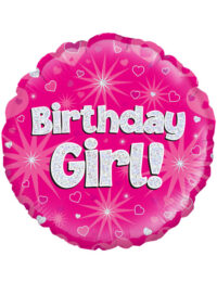 """18"""" Pink Birthday Girl"""