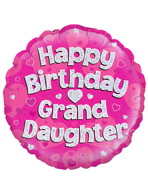 "18"" Pink Birthday Grandaughter"