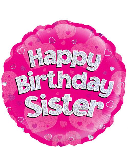 "18"" Pink Birthday Sister"