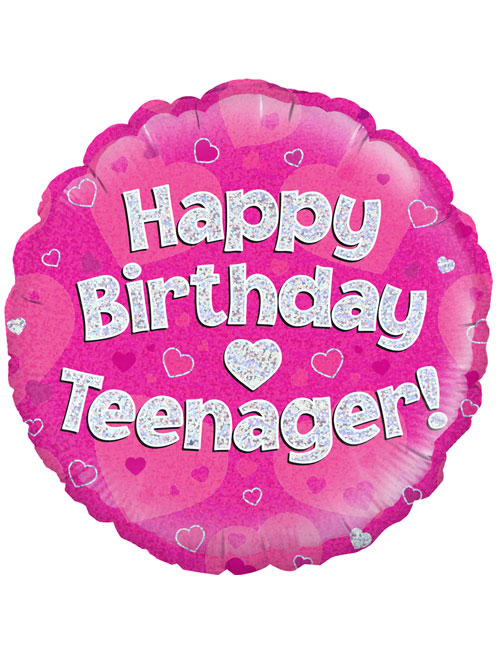 "18"" Pink Birthday Teenager"
