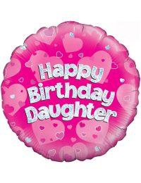 "18"" Pink Birthday Daughter"