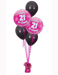 Pink Holo 21st Black