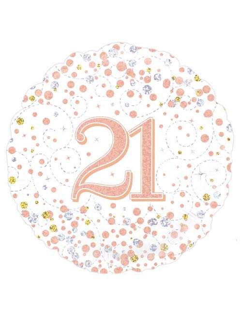 Rose Gold Fizz 21st Balloon
