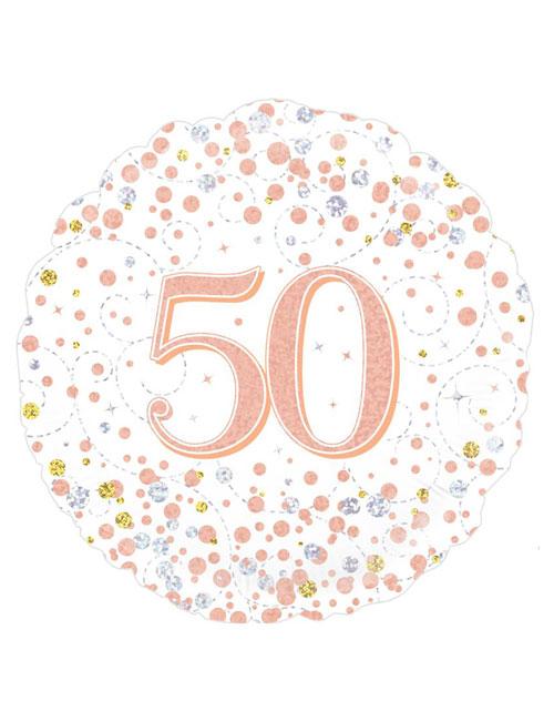 Rose Gold Fizz 50th Balloon