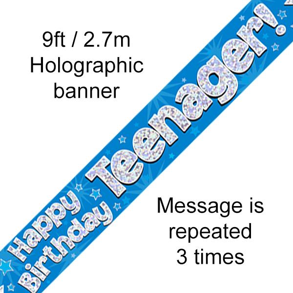 Blue Birthday Teenager Banner