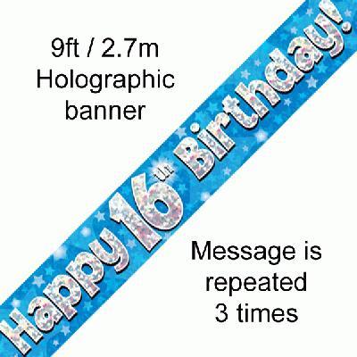 Blue 16th Banner