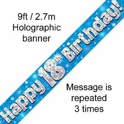 Blue 18th Banner