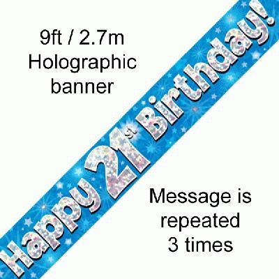 Blue 21st Banner