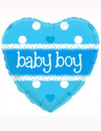 18inch Baby Boy Heart Holographic Balloon