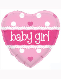 18inch Baby Girl Heart Holographic Balloon