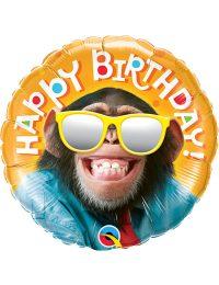 "18"" Birthday Smilin Chimp Balloon"