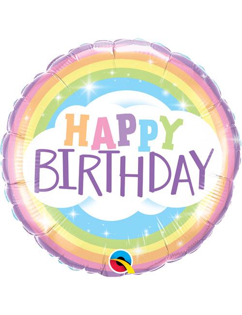 18inch Happy Birthday Rainbow Balloon