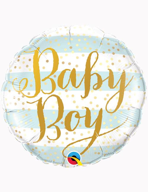 18inch Baby Boy Blue Stripes Balloon