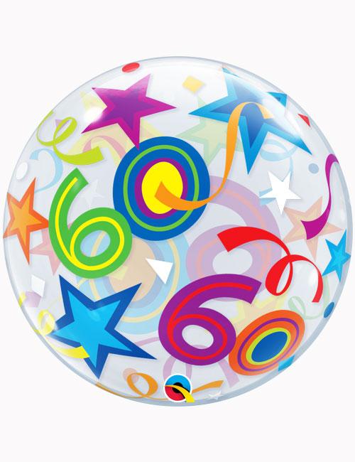 """22"""" Bubble 60th Brilliant Stars"""