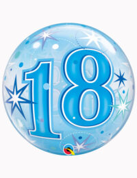 """22"""" Bubble 18th Blue Starburst Sparkle"""