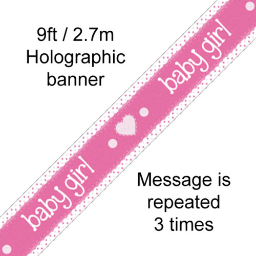 9ft Banner Baby Girl
