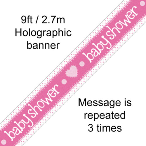 9ft Banner Baby Shower Pink