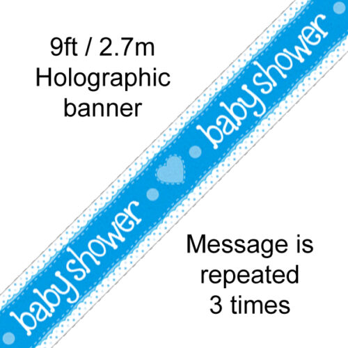 9ft Banner Baby Shower Blue