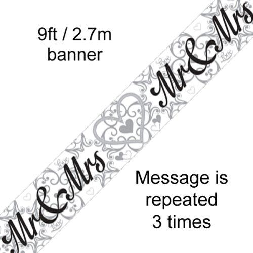 9ft Banner Mr & Mrs
