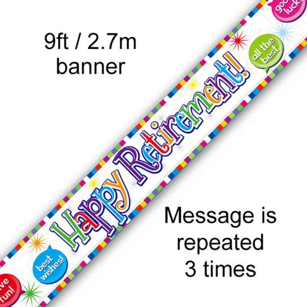 9ft Banner Happy Retirement
