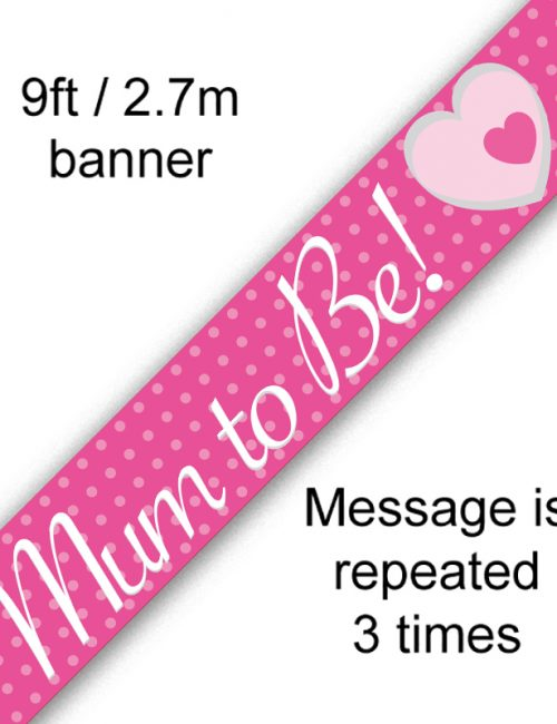 9ft Banner Mum To Be