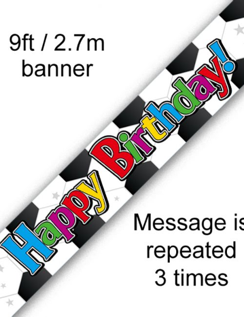 9ft Banner Football Birthday