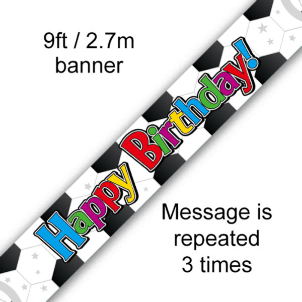9ft Banner Football Birthday