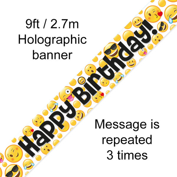 9ft Banner Emoji Birthday