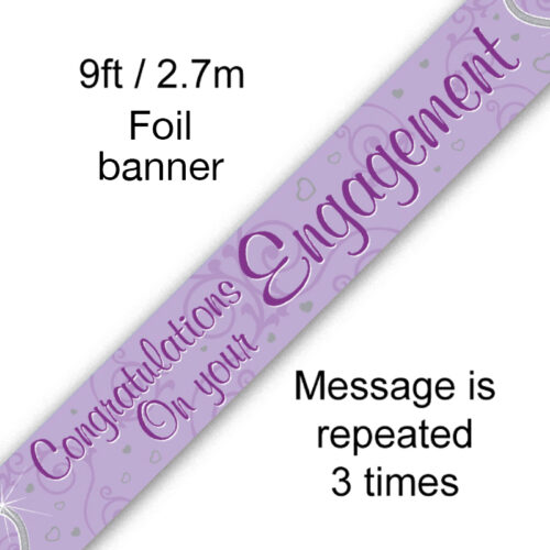 9ft Banner Congratulations on your Engagement