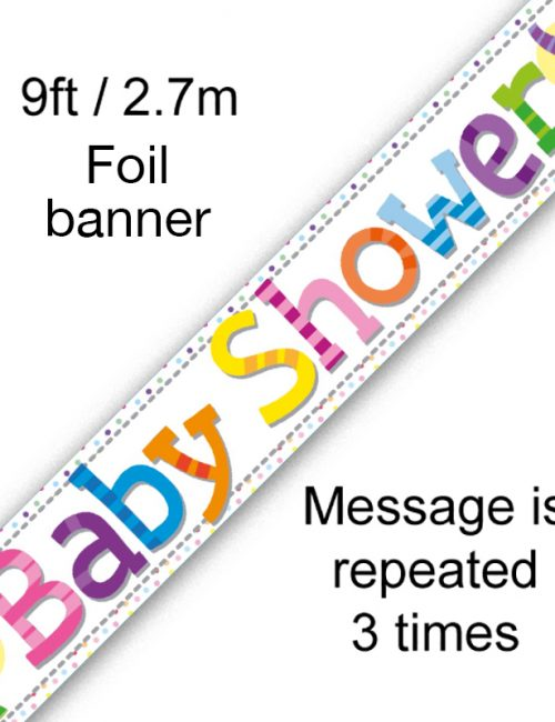 9ft Banner Baby Shower Elephants