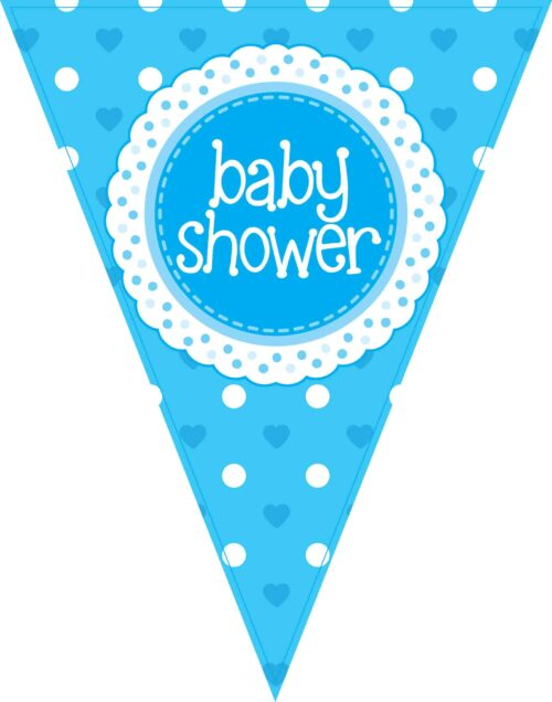 Party Bunting Baby Shower Blue 11 flags 3.9m