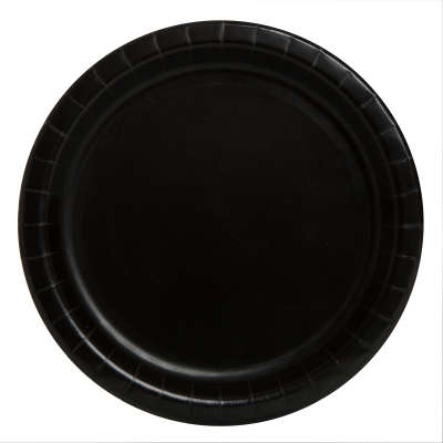 "9"" Dinner Plates x 8 Black"