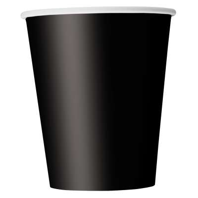 9oz Paper Cups x 8 Black