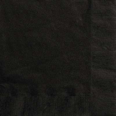 Luncheon Napkins x 20 Black