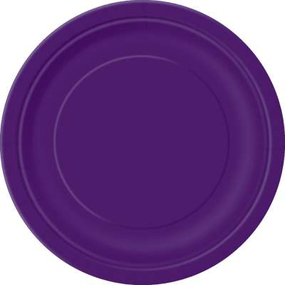 "9"" Dinner Plates x 8 Deep Purple"