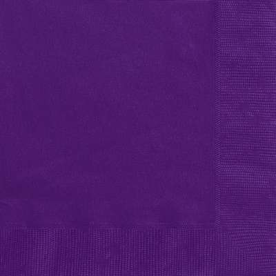 Luncheon Napkins x 20 Deep Purple