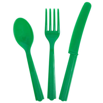Cutlery x 18 Pieces Emerald Green