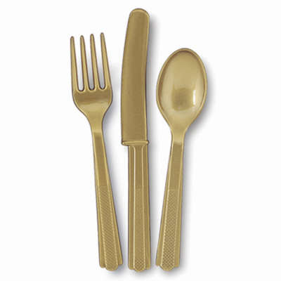 Cutlery x 18 Pieces Gold