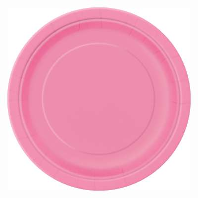 "9"" Dinner Plates x 8 Hot Pink"