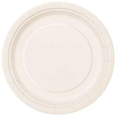 "9"" Dinner Plates x 8 Ivory"