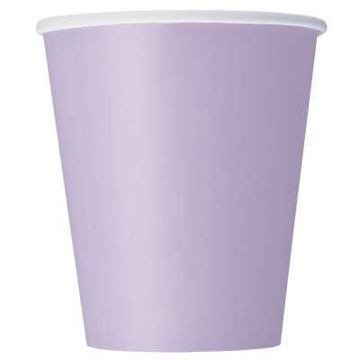 9oz Paper Cups x 8 Lavender