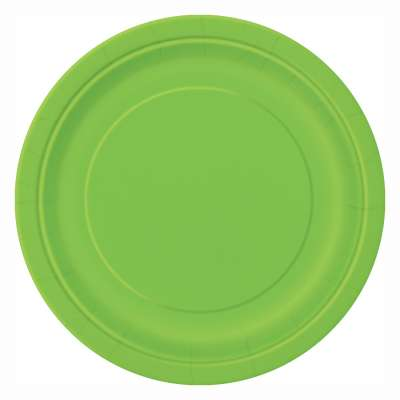 "9"" Dinner Plates x 8 Lime Green"